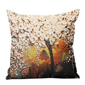 Iuhan® Fashion Tree Painting Pillow Case Sofa Waist Throw Cushion Cover Home Decor (A)