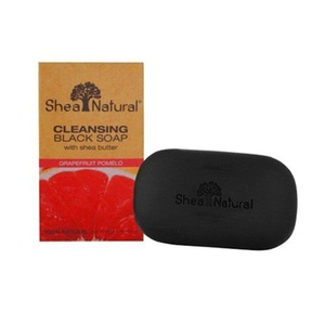 Shea Natural Butter Black Soap, Cleansing Grapefruit Pomelo, 5 Ounce by Shea Natural