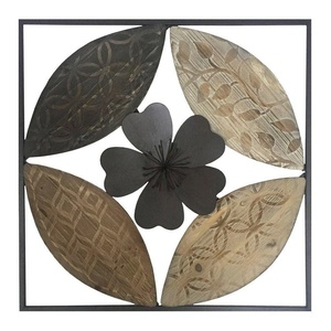 Stratton Home Decor S01206 Flower Carved Wood Wall Decor