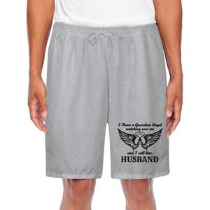Men's Athletic Husband My Guardian Angel Sports Short Shorts