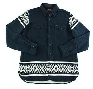 Polo Ralph Lauren Mens Medium Button Down Flannel Shirt Black M