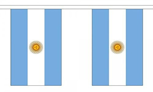 Argentina Bunting 9M Metre Length With 30 Flags 9X6 100% Woven Polyester by Argentina