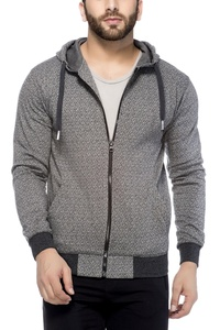 Tinted Men's Cotton Blend Hooded Sweatshirt