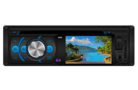 Leewos Shockproof 3 Inch AUX Input IN Dash DVD / CD / USB / MP3 Player Rear View RDS Radio Definition Color Digital Screen Car Radio Player