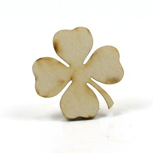 Mylittlewoodshop - Pkg of 6 - Shamrock - 2 inches by 2 inches with 4 leaf and 1/8 inch thick unfinished wood(LC-SHAM03-6)