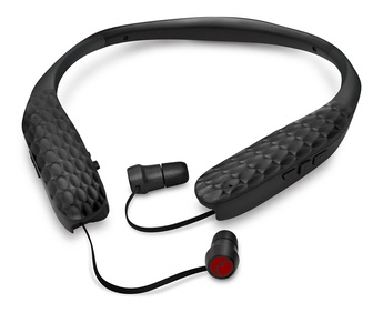 Lucid Audio AMPED Sound Amplifying Bluetooth Neckband Earbud Headphones with Wireless Audio Streamer - Black