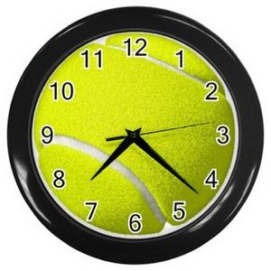 Wall clock LZWC004 New Sport Wall Clock Tennis Ball Design Clock Tennis #BLACK or #SILVER rare!