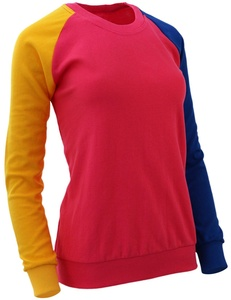 The-Tops Women's Casual Raglan Crew Neck Long Sleeve T-Shirt-pink L