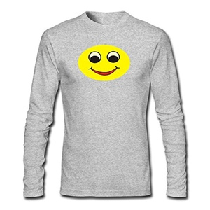 Smiling Face For Mens Printed Long Sleeve tops t shirts