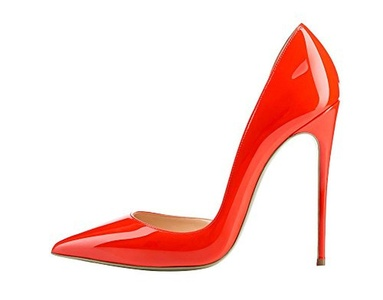 Maikool Women's Elegant High Stiletto Heel Big Size Pointed Toe Court Shoes 5 M US Red