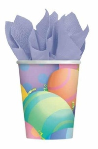 Peek a Boo Bunny - Paper Cups PK8 by Partyrama