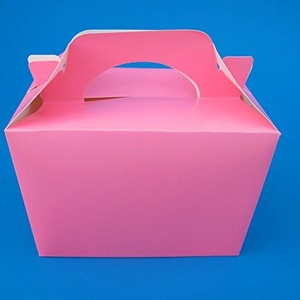 Set of 10 Pink Party Food Boxes. by Partyrama