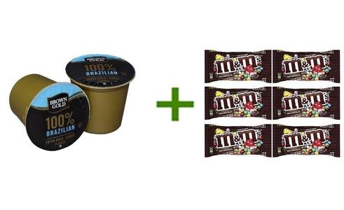 Brown Gold Coffe K-Cups 48 ct,M&M MILK CHOCOLATE 6/1.69oz