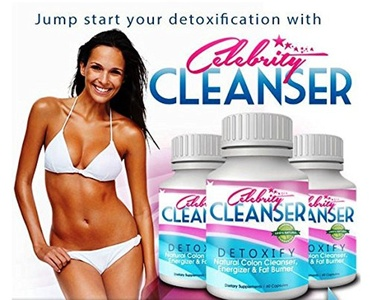 Celebrity Cleanser Detoxify Natural Detox-Colon Cleanse Combo To Support Weight Loss & Slimming 3 X 60 Capsules Made In The USA Suitable For Vegetarians by Celebrity Cleanser