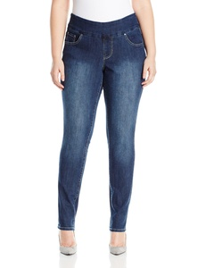Jag Jeans Women's Plus Size Chandler Pull on Narrow in Comfort Denim