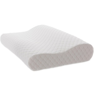 Bed Pillow, Memory Foam Contour Pillow with Removable Washable Pillow Case, Head and Neck Support Pillows for Side and Back Sleepers by TAMPOR, Queen/Standard Size