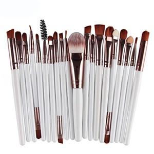 Sankuwen 20pcs Makeup Brush Set Cosmetics Face Powder Brush (White)