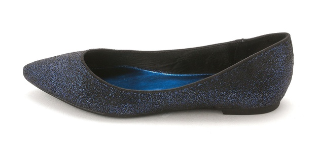 Mari A. Women's Pointe Pointed Toe Flat, Blue, Size 7.0