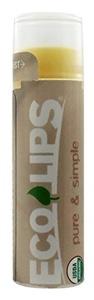 Eco Lips Pure & Simple Lip Balms Coconut 0.15 oz. tubes [Health and Beauty] by Eco Lips
