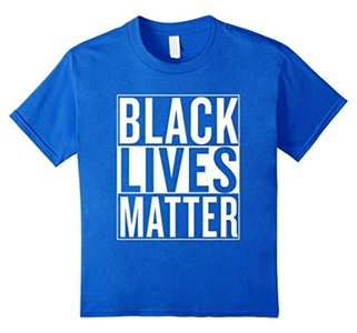 Kids Black Lives Matter Race Unity Say No Racism T-shirt 8 Royal Blue