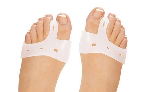 Bunion Corrector Toe Straightener - Bunion Toe Spacer, Spreader, Stretcher and Separator for Bunion Pain Relief - Soft Gel Bunion Pad (1 Pair)
