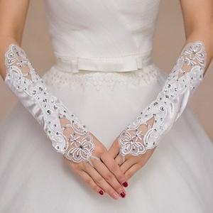 Opera Length Fingertips Glove Polyester Bridal Gloves / Party/ Evening Gloves