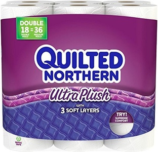 Quilted Northern Ultra Plush Double Rolls, 18 Count by Quilted Northern