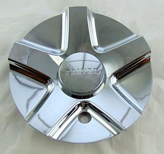Player Wheels Rim Center Cap P-148CAP Chrome 6 3/16