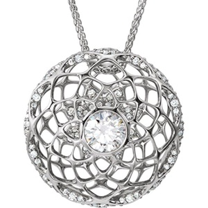 Platinum 1 1/5 CTW Diamond Cage 18