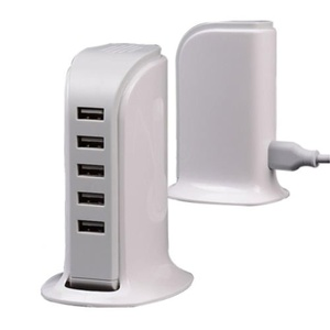 5-Ports Desktop USB Charger Home Travel Wall Charging Station for Phone Tablet