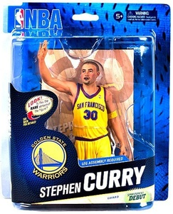 McFarlane Toys NBA Sports Picks Series 24 Action Figure Stephen Curry (Golden State Warriors) Yellow Uniform Collector Level by NBA Basketball Sportspicks Series 24 Action Figures