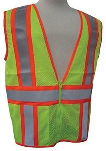 3A Safety - ANSI Certified Mesh Flagger Safety Vest, size: Medium, color: Lime