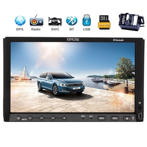 Reversing Camera+EinCar 7'' Double Din Car Stereo with Capacitive Touch Screen In Dash GPS Navigation Car DVD Player Bluetooth AM FM Radio Head Unit System iPod+Remote Control