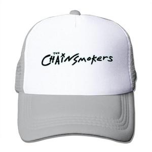 Adult The Chainsmokers Logo Adjustable Mesh Hat Trucker Baseball Cap Ash