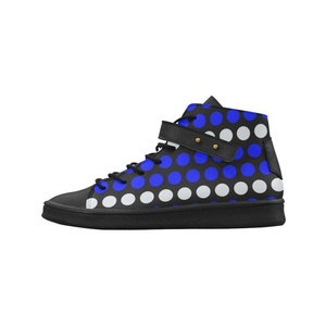 Shoes No.1 Women's Sneakers Lyra Round Toe High-top Shoes Polka Dots Blue White Black For Outdoor
