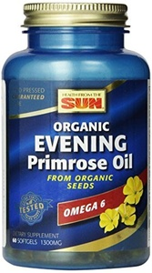 Health From The Sun Evening Primrose Organic 1300 mg (60 Capsules) by Health From The Sun