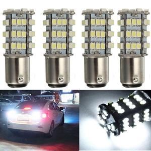 KATUR 4 x White 1157 S25 BAY15D 1210 54-SMD LED Car Lights Bulb Backup Signal Blinker Tail Light Bulbs 12V Replacement 1016 1034 2057 7528 1157A 1178A LED Light