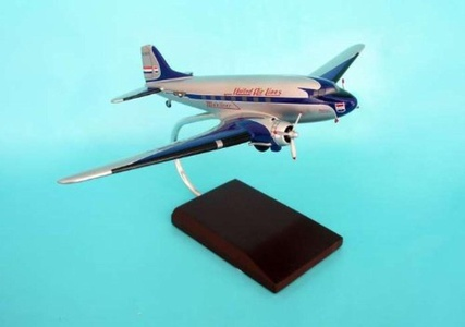 Daron Worldwide Trading G8872 DC-3 United 1/72 AIRCRAFT by Executive Series Display Models