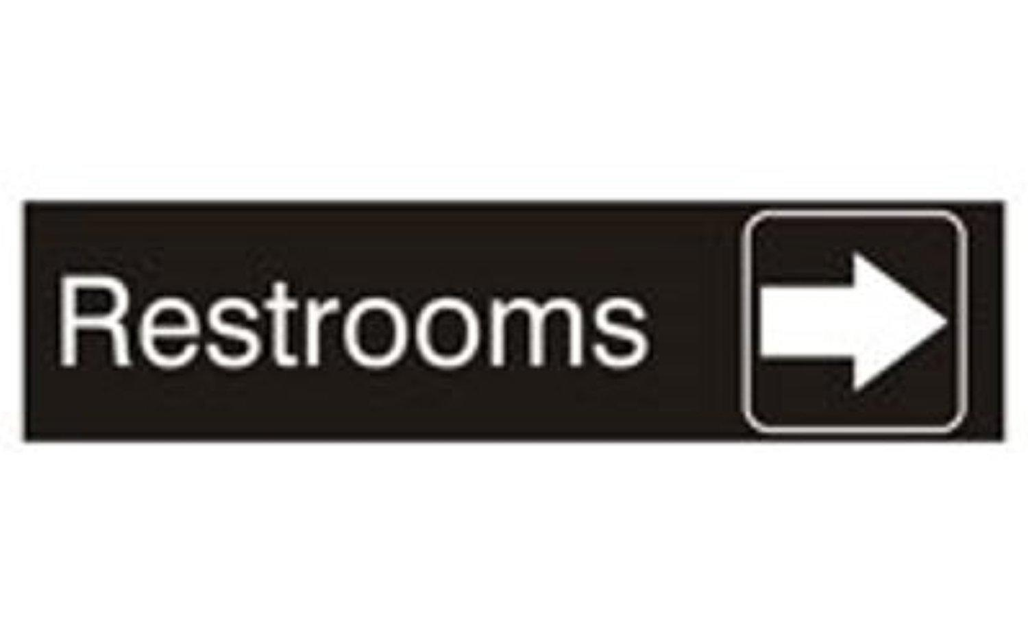 Bathroom sign with arrow - Signage Solutions Wall Or Door Sign
