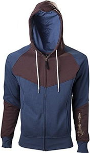 assassin's creed HD178903ASC-M - ASSASSIN'S CREED Unity Medium Hoodie with Full Length Zip, Blue/Brown (HD178903ASC-M) by Assassin's Creed