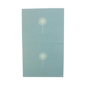 2 X FLORAL DANDELION SEED BLUE WHITE WOODEN PLACEMATS 25 X 30 X 1.5CM