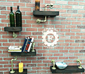 Steampunk Shelves, Industrial Shelves, Wall Shelves, Pipe Shelves, Wood Shelves, Wall Decor, Industrial Decor, Steampunk Decor