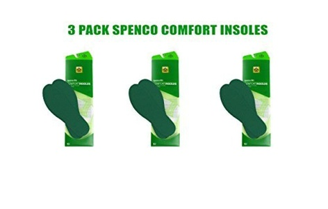 Spenco RX Comfort Insoles Three Pair Pack (Size #3 Women's 9-10 Men's 8-9) by RX Comfort Insoles