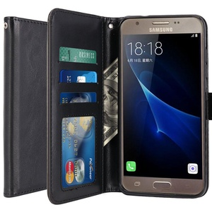 Galaxy J3 Emerge Case, LK Luxury PU Leather Wallet Flip Protective Case Cover with Card Slots and Stand for Samsung Galaxy J3 Emerge Case