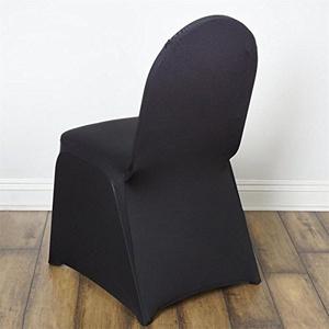 100 Black Spandex Banquet Chair Covers