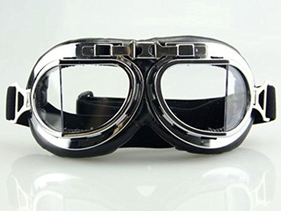 Vintage Retro New Cyber Steampunk Goggles Glass Collapsible Eyewear