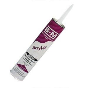 S-M 5504C-WH RV Acryl-R Caulk, 10.3 oz Capacity, White by S-M