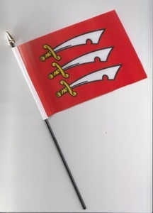 Essex County Hand Flag 25cm by 1000 Flags