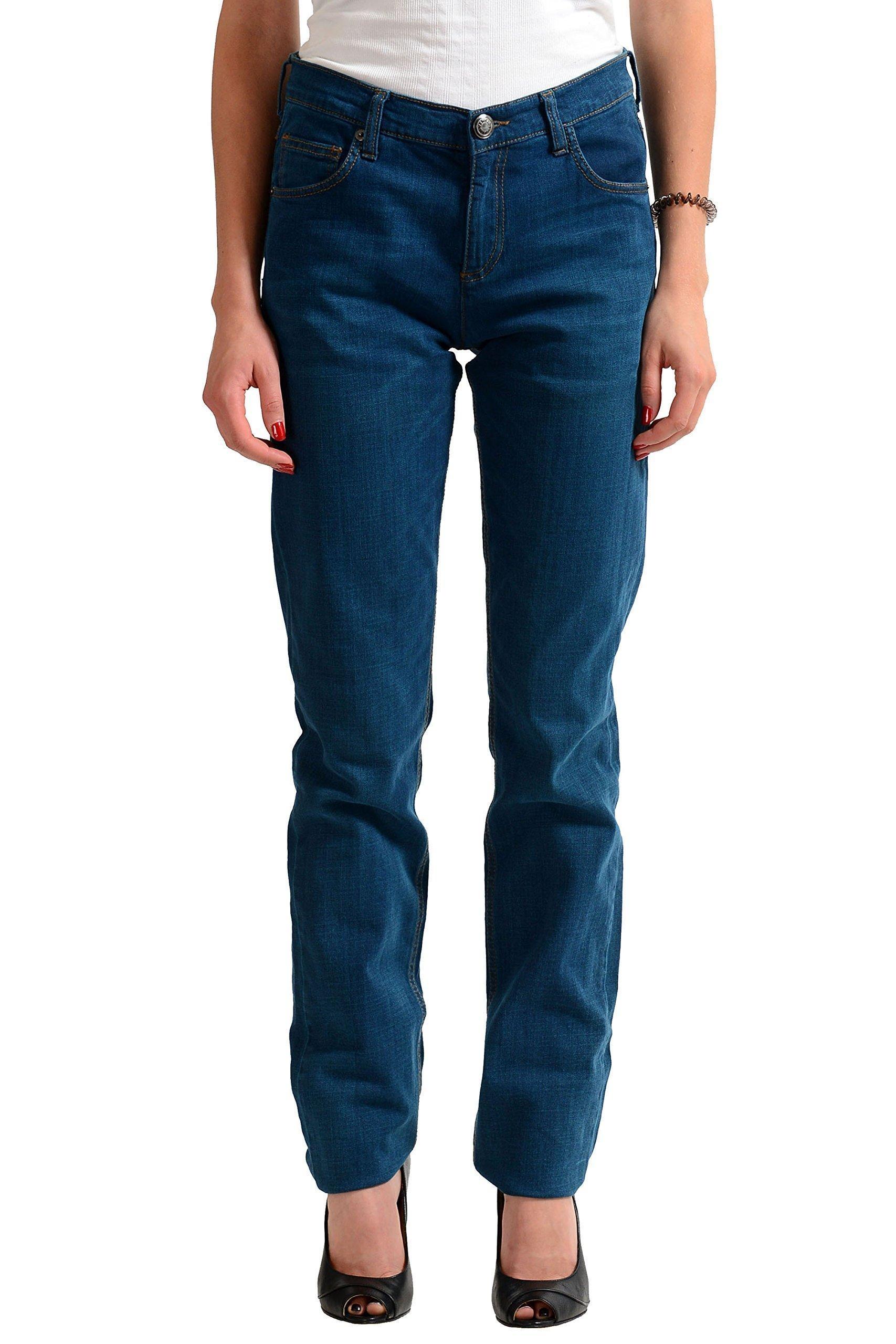 Versace Jeans Blue Slim Fit Women's Jeans US 8 IT 44