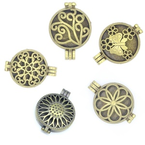 5pcs 30mm Keepsakes Photo Floating Locket Aromatherapy Essential Oil Diffuser Pendant For Neckalce DIY